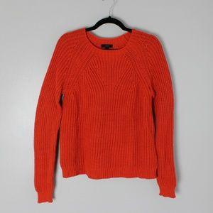 Orange J. Crew knit sweater